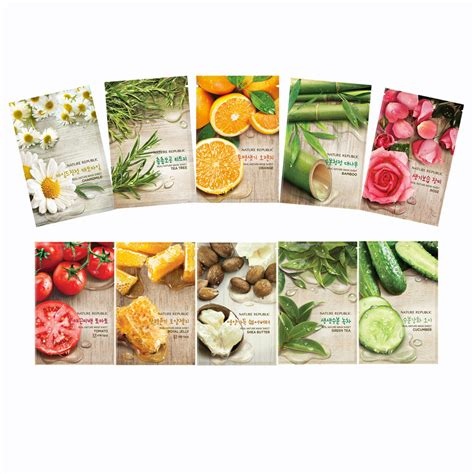 Nature Republic Real Nature Mask by Nature Republic Real Nature Mask Sheet X 3 Ea