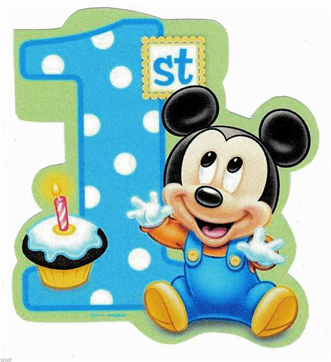 heat l for baby 4 quot disney babies baby mickey mouse 1st birthday heat