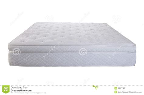 soft and comfort bed isolated royalty free stock