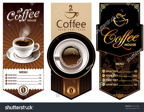 banner design coffee shop restaurant menu stock vector 699560560 three coffee design templates vector banners all
