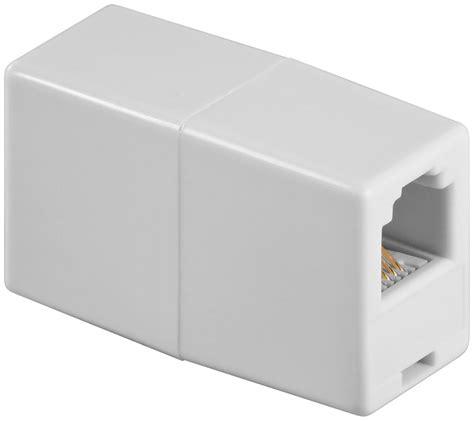 Kabel Telepon Rj11 1 8m White rj11 kupplung tel adap rj11 6p4c 2xf white ebay