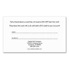 Referral Card Template by Tanning Salon Cut Out Punch Cards Punch Salons And