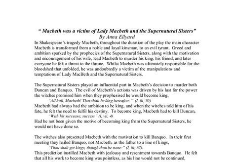 Macbeth Supernatural Essay by Supernatural Macbeth Essay Proofreadingdublin Web Fc2
