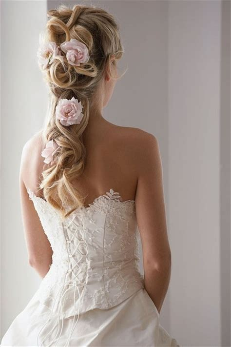 bridal hairstyles with roses 50 irresistible hairstyles for brides and bridesmaids
