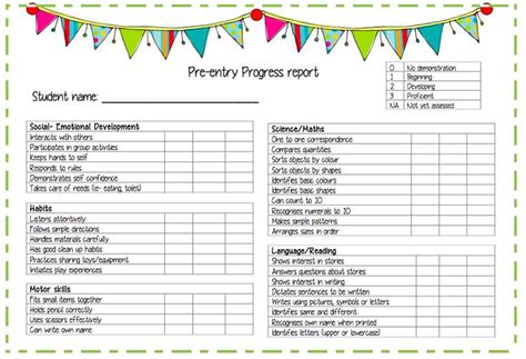 preschool progress report template 1000 images about preschool progress reports on