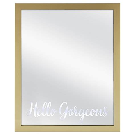 bed bath and beyond light up mirror quot hello gorgeous quot 18 inch x 22 inch light up mirror bed