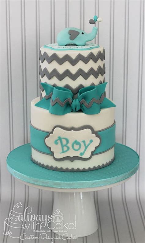 boy baby shower colors chevron elephant baby shower cake would change colors