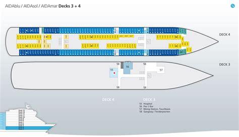 aidabella kabinenplan deck 4 aidasol deckplan position und infos zu aida sol