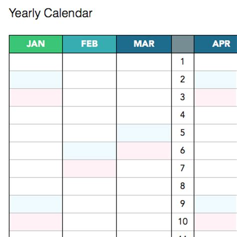 large yearly april calendars yearly calendar templates