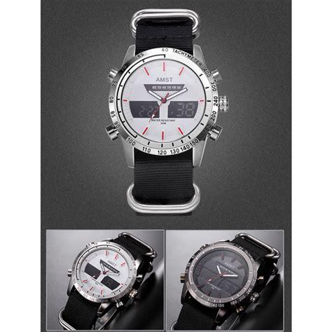 Jam Tangan Trendy Pria Kulit Black amst jam tangan kulit analog digital pria am3023 black white jakartanotebook