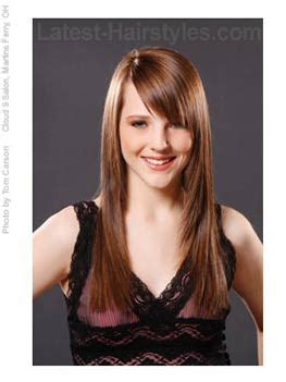 long layered cut with slant bang 20 hairstyles that ll make you want long hair with bangs