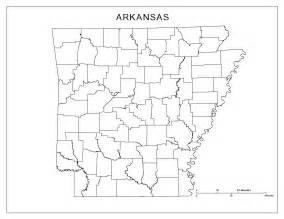Arkansas County Outline Map by Arkansas Blank Map
