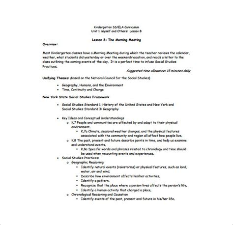 lesson plan template for kindergarten sle kindergarten lesson plan template templates data