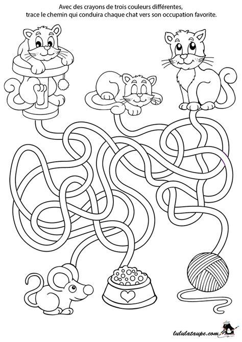 Labyrinthe 224 Imprimer Les Chats Lulu La Taupe Jeux