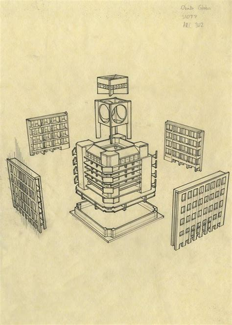 exeter library louis kahn cad design  cad blocks
