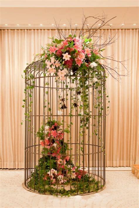 La cage à oiseaux décorative   tendance shabby chic