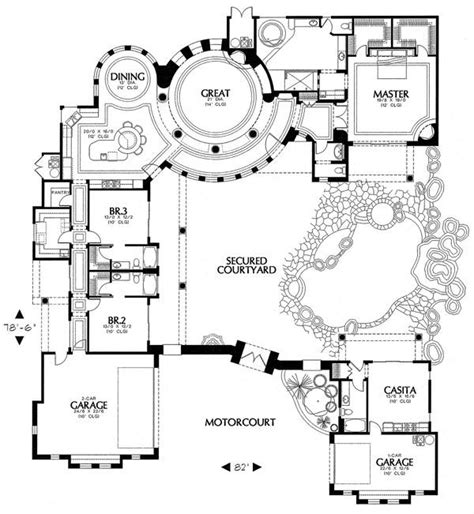 Courtyard Home Plans by Spanish Courtyard Home Plans Find House Plans
