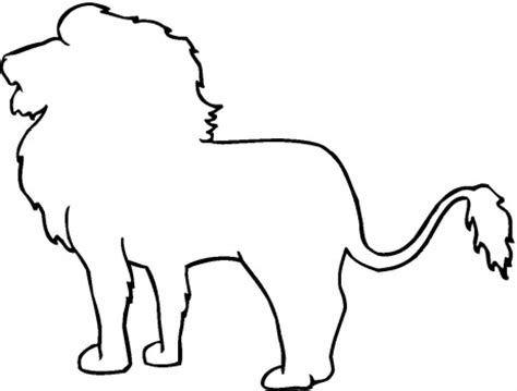 printable animal outlines lion outline coloring page super coloring clipart best