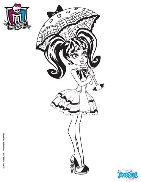 draculaura and clawd monster high coloring color zini coloriages draculaura 224 colorier fr hellokids com