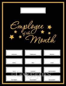 Employee Of The Month Poster Template by Employee Of The Month Kit 48613