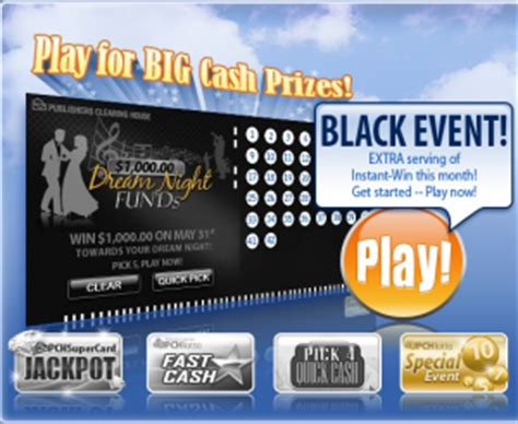 Pchlotto Sweepstakes - two instant win chances with the pchlotto black event pch blog
