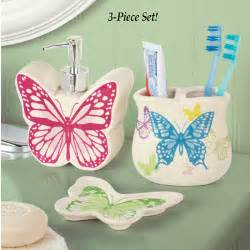 Butterfly Bathroom Decor by Butterfly Bathroom Accessories Set 3 Pc From Collections