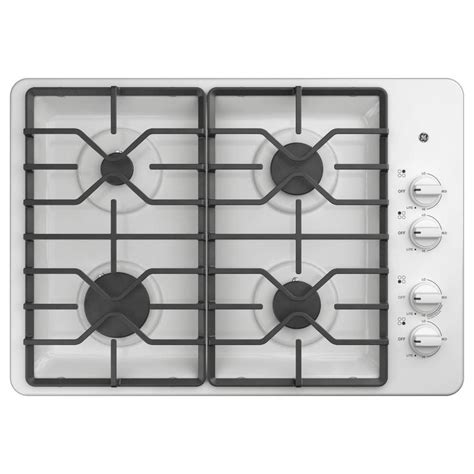 white cooktops ge 30 in white gas cooktop common 30 in actual 30 in
