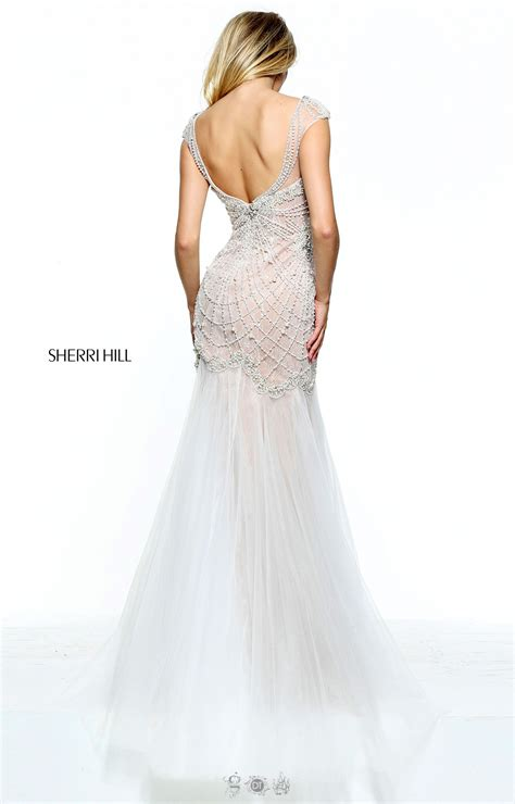 low back beaded dress sherri hill 51046 low back beaded dress prom dress