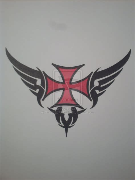 iron cross tattoo temporary airbrush stencil book template booklet 17