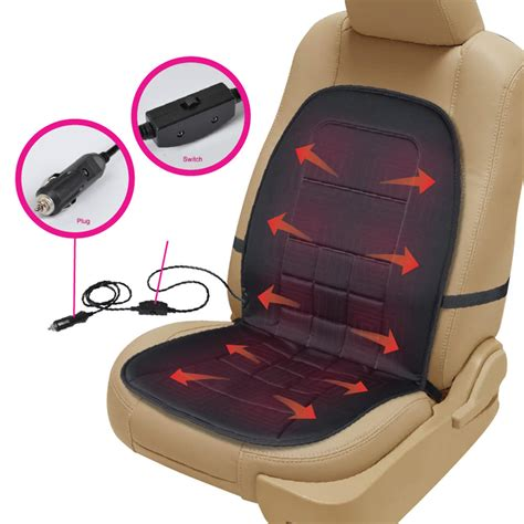 aftermarket car seat warmers travel warmer heated car seat cushion 12 volt padded