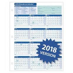 Calendar 2018 Officemax Complyright 2018 Attendance Calendar Cards 8 12 X 11 White