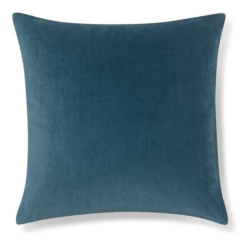 velvet pillow cover cyan williams sonoma