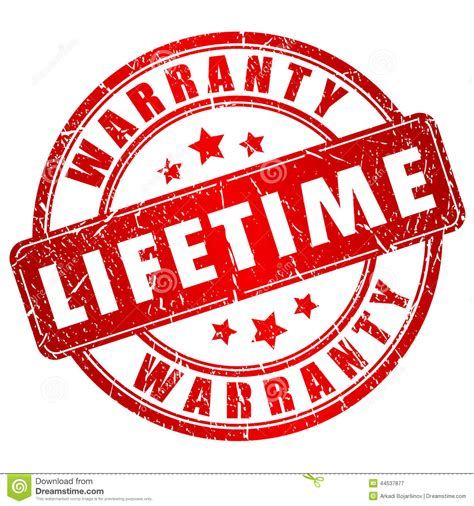 life time lifetime warranty st stock vector image 44537877