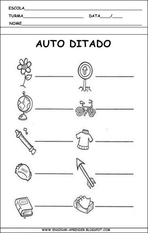 T 3 L by Auto Ditados E Modelos De Fichas De Ditado Cantinho Do
