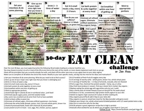 30 day pony challenge facebookcom my newest challenge for august 30 day eat clean challenge