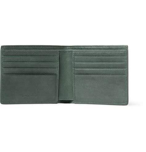 Bottega Veneta Intrecciato Karung Leather Wallet by Lyst Bottega Veneta Intrecciato Leather Billfold Wallet