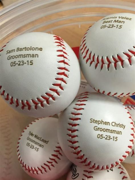 personalized baseballs wedding favors personalized engraved baseball custom text and image