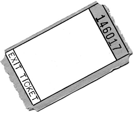 Exit Ticket Template Cyberuse Exit Template