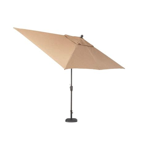 Patio Umbrellas Rectangular Hton Bay Pine Valley 10 Ft Rectangular Patio Umbrella In Linen Spice Azf01405k01 The Home