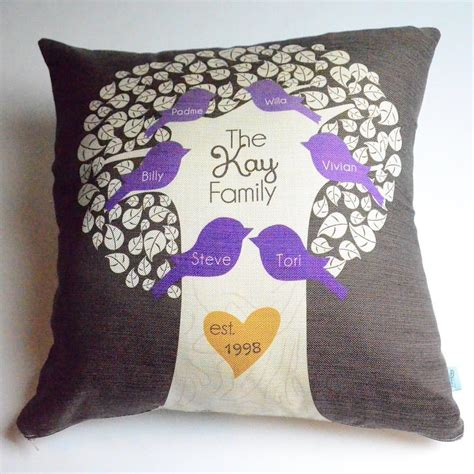 Family Pillows by Personalized Family Tree Pillow Monkey Designs