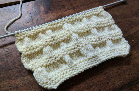 knit into stitch gathered stitch knitting free knitting stitch pattern