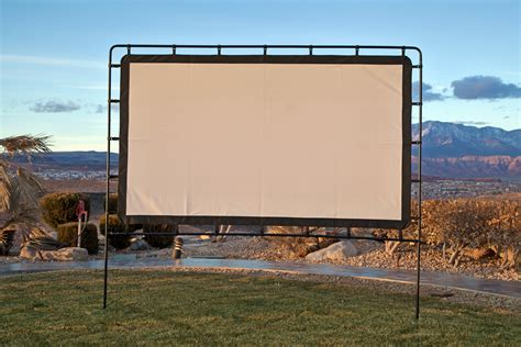 backyard big screen image gallery outdoor projector screen