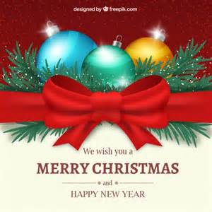 christmas and new year greetings vector free download