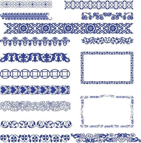 Chinese Pattern Border Ai | free vector western style border free vector download