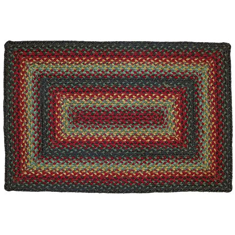 country decor rugs oklahoma jute braided area rug country primitive homespice decor ebay