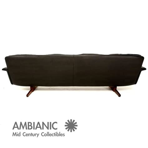 mobler sofa vatne mobler leather and rosewood sofa at 1stdibs