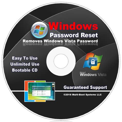 reset vista password live cd password reset recovery cd disc for windows vista home