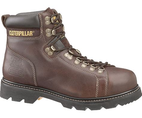 Caterpillar Bandick Brown Steel Toe Safety Boot cat work boots yu boots