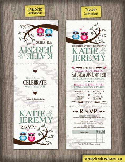 custom owl wedding invitations canada empire invites