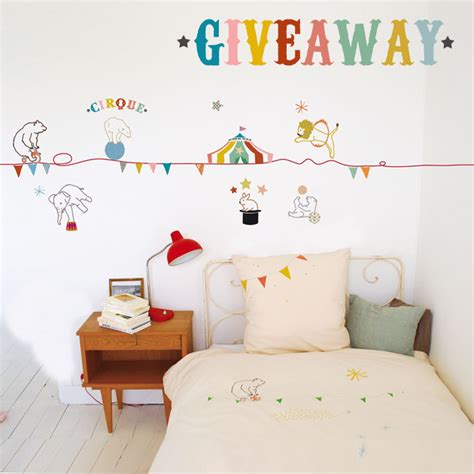 Sticker Giveaway - mimi lou circus kids wall sticker giveaway room to bloom